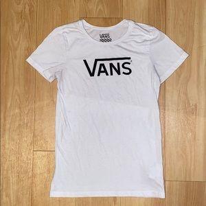 Vans Basic Logo White Tee / T-shirt Medium